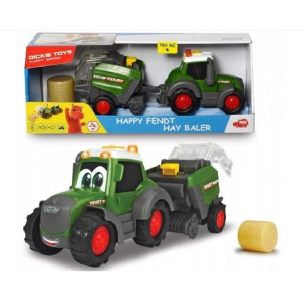 dickie traktor fendt i maszyna do belowania  30cm 411-5000