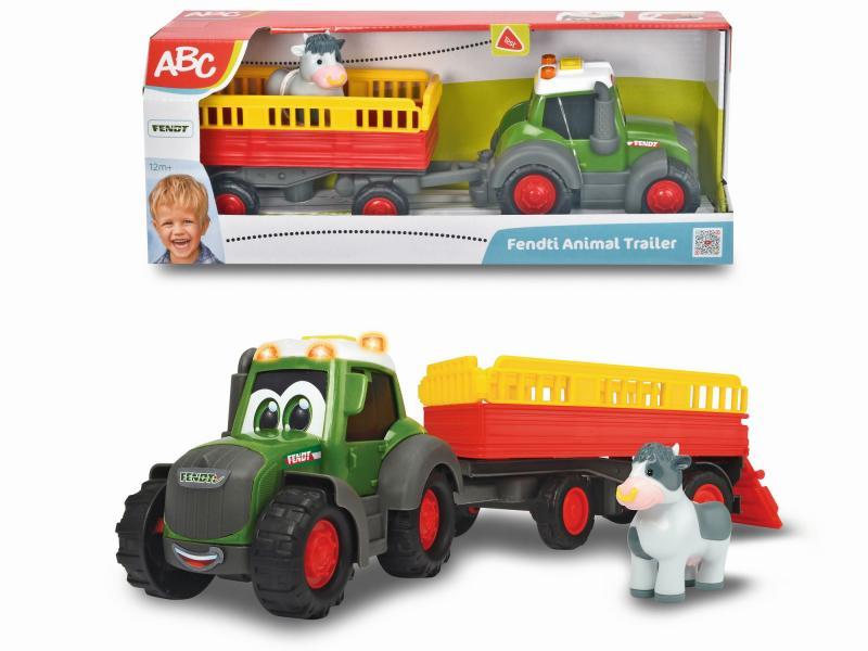 dickie traktor fendt i przyczepa 30cm 411-5001