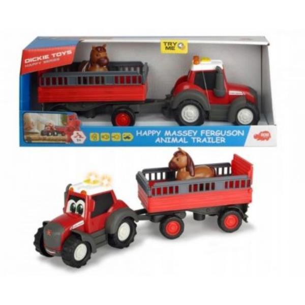 dickie happy massey ferguson traktor z przyczepą 411-5002